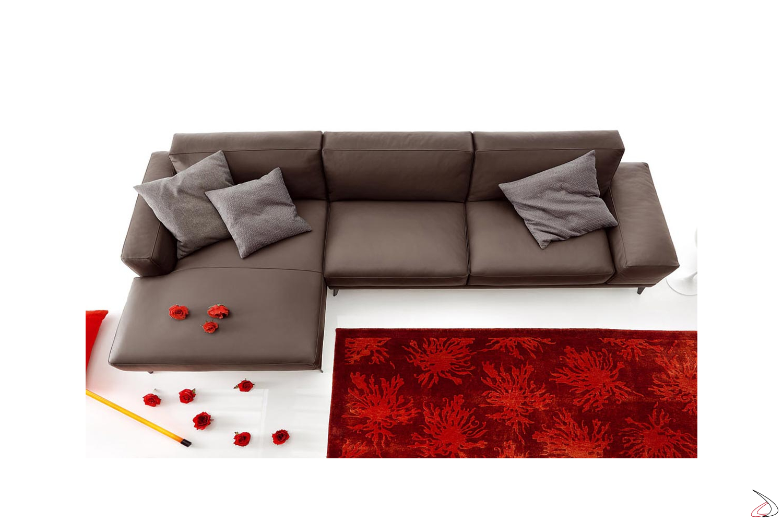 Divano moderno da salotto con chaise lounge