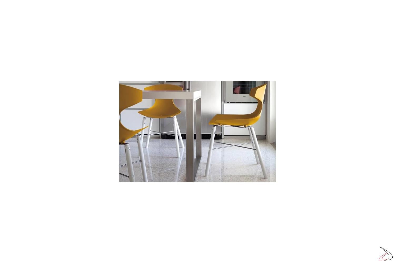Tavolo Con Sedie Colorate.Choe Living Room Design Chair Toparredi Arredo Design Online