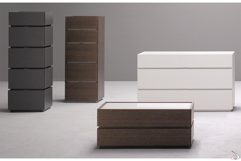 Elementi contenitori per camera da letto