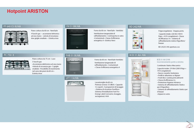 Cucina componibile con elettrodomestici Ariston