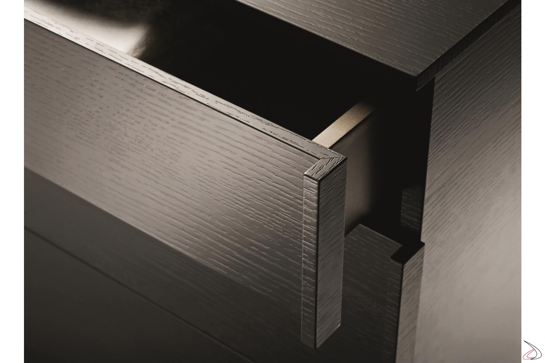 Frontale in legno con lavorazione a 45°