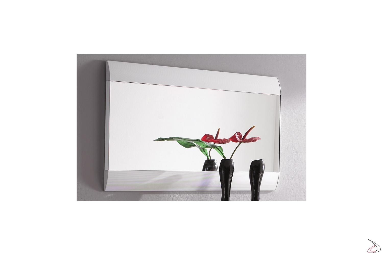 Specchiera da ingresso moderna con cornice in alluminio Orbit-2