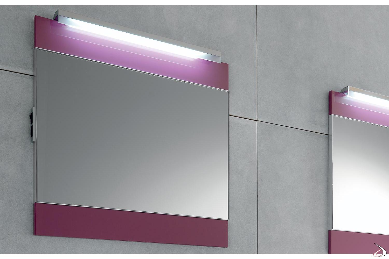Specchiera moderna da bagno colorata