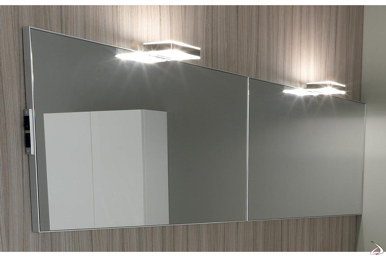 Doppia specchiera da bagno moderna