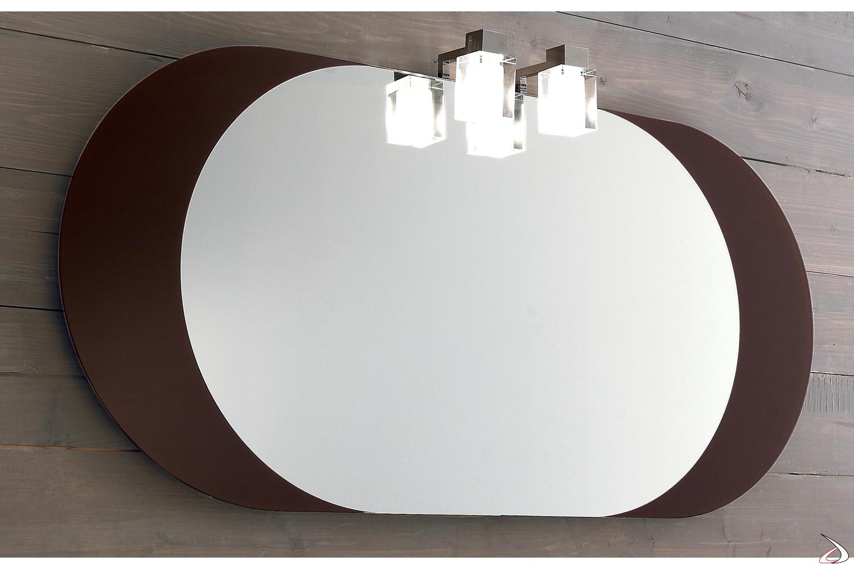 Specchio bagno colorato con cornice laterale