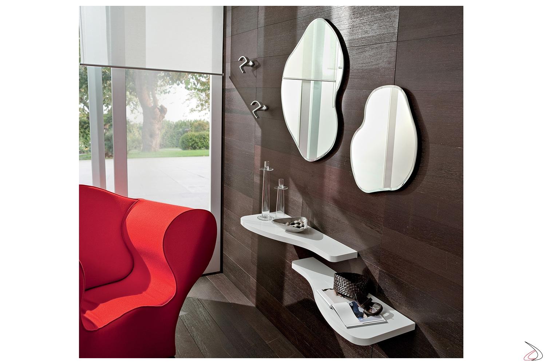 Specchio Per Ingresso Moderno.Pongo Mirror