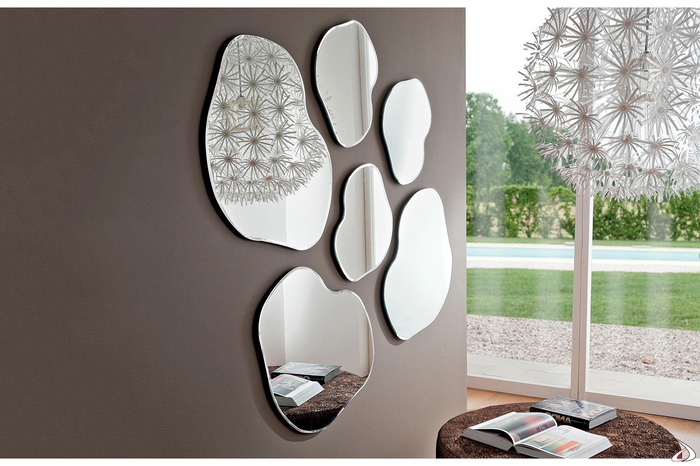 Specchi sagomati di design da ingresso e parete soggiorno