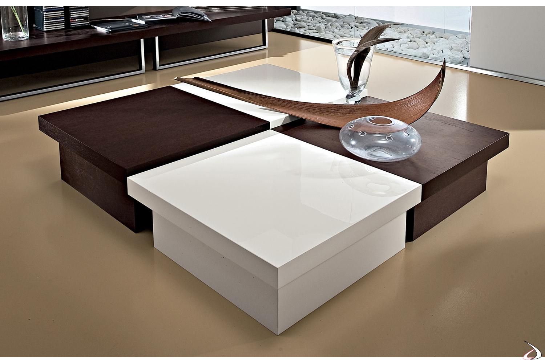 Tavolini di design bassi contenitori in legno