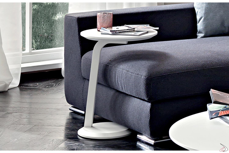 Tavolino alto moderno rotondo da lato divano gola toparredi for Divano rotondo