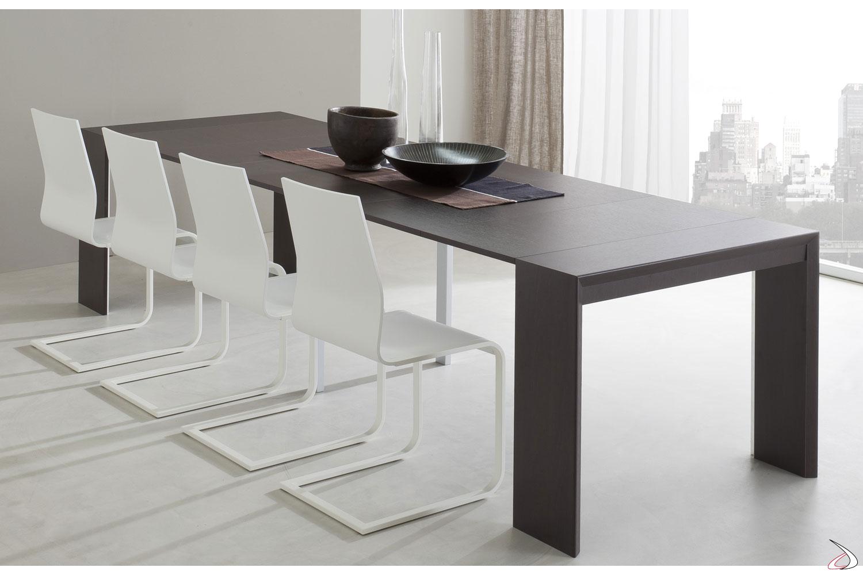 Tavolo consolle moderna allungabile da soggiorno