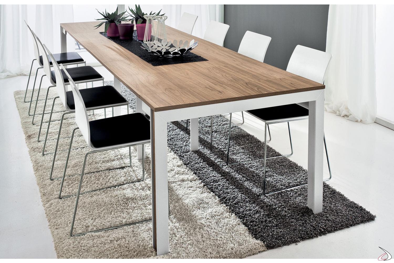 Tavolo consolle moderno allungabile da soggiorno