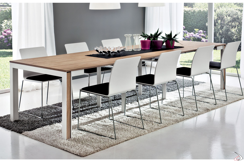 Tavolo consolle in hpl da soggiorno allungabile
