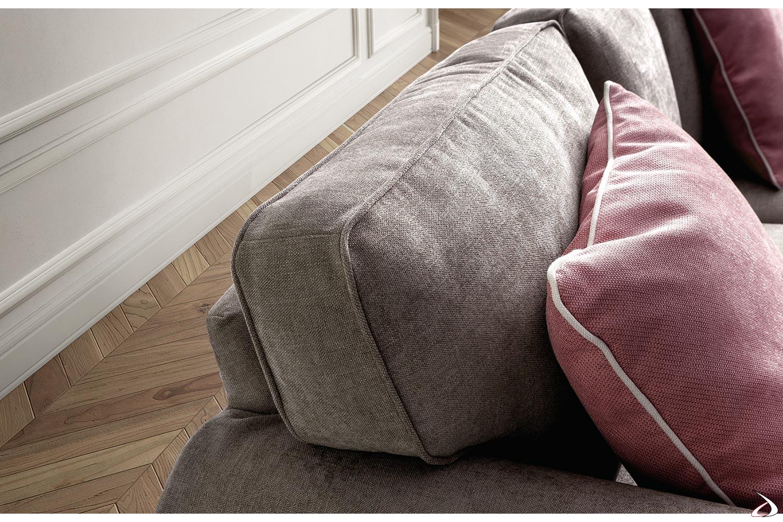 Vista dettagliata cuscino schienale e poggiatesta