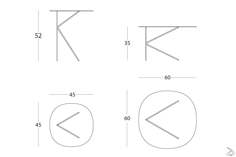 Misure tavolino design rotondi