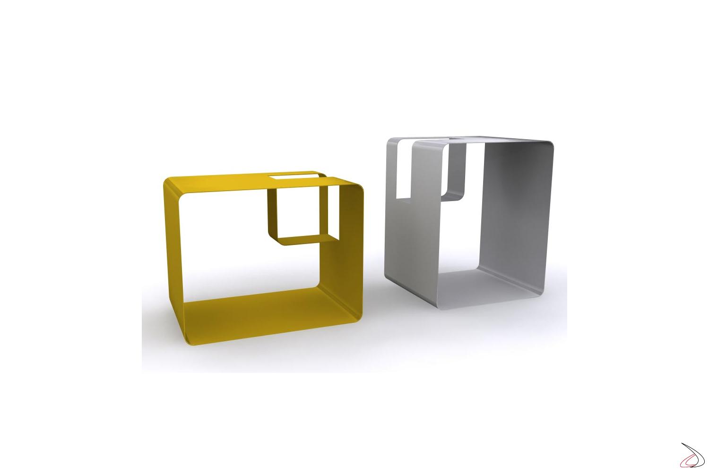Porta riviste design da salotto in ferro