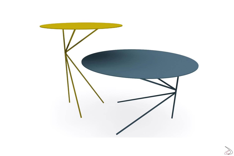 Tavolini moderni da salotto rotondi colorati