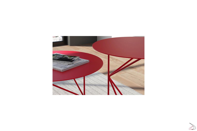 Tavolini da salotto in metallo rotondi
