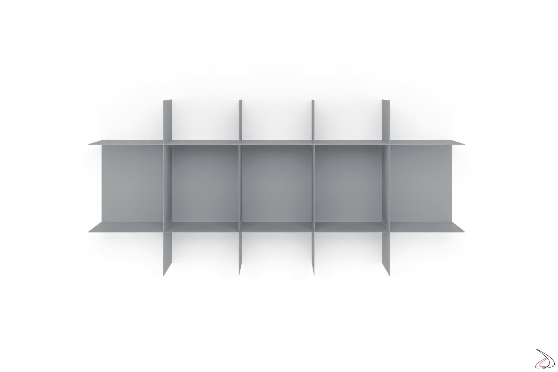 Libreria di design sospesa in metallo