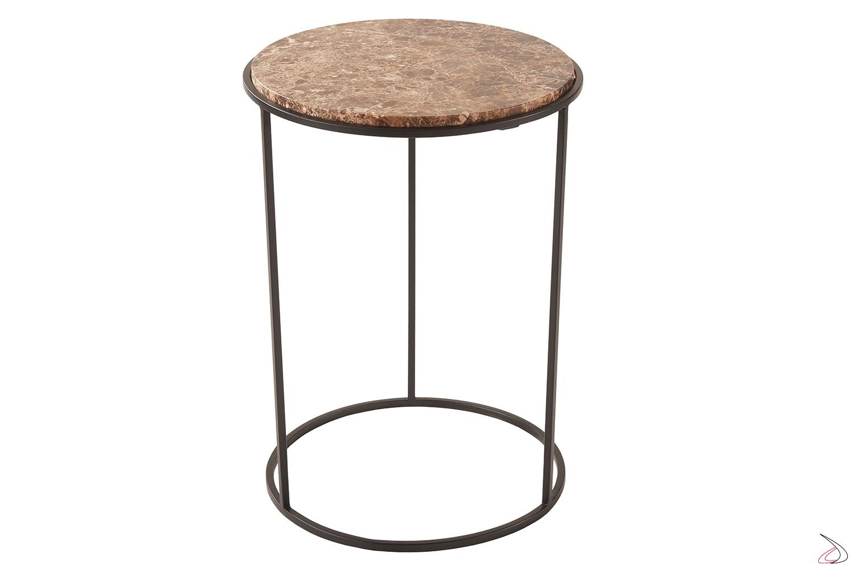 Tavolino in marmo di design rotondo da soggiorno
