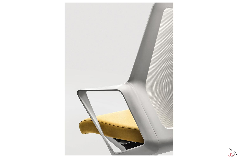 Sedia Da Ufficio Bianca.Flos Chair With Armrests Toparredi Arredo Design Online