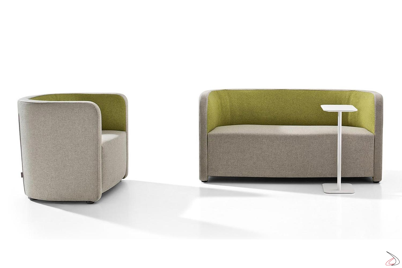 Sedute d'attesa moderne comode imbottite con schienali basso