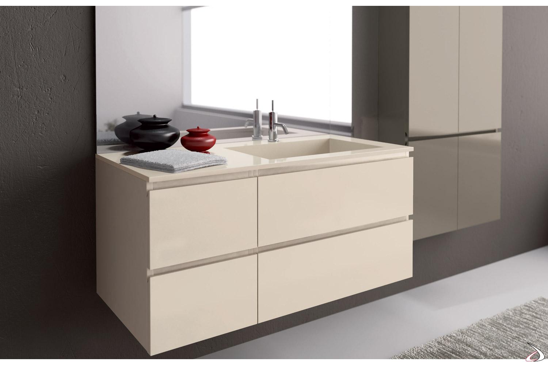 Base porta lavabo con vasca integrata