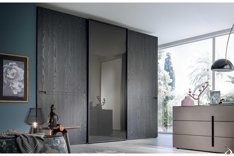 Guardaroba Con Ante Scorrevoli A Specchio.Customizable And Design Wardrobe With Three Sliding Doors