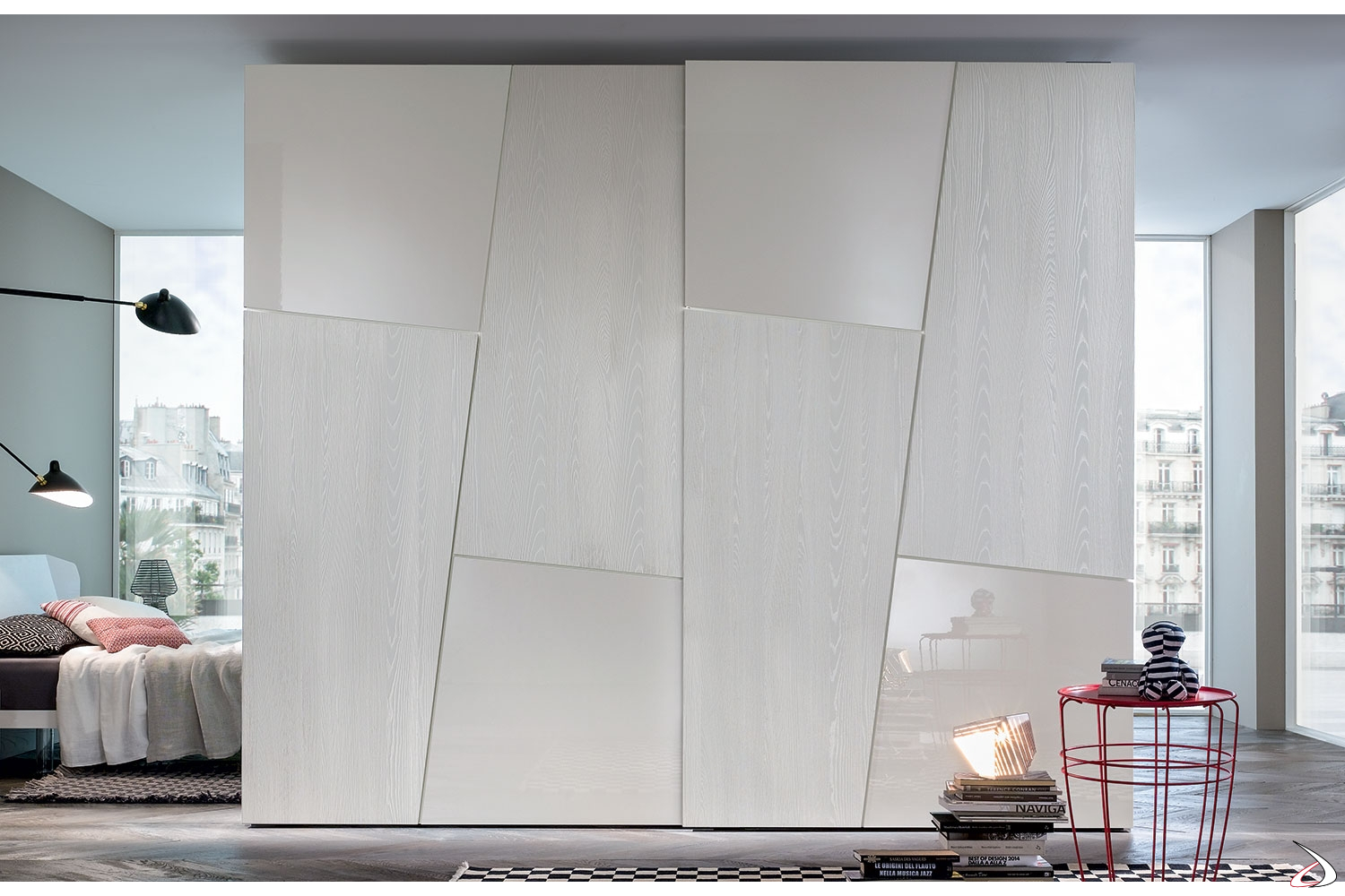 Armadi Ante Scorrevoli In Vetro.Leviosa Wardrobe An Attractive And Modern Design Toparredi