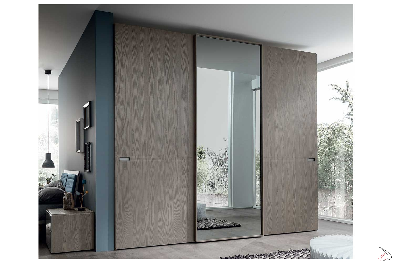 Armadio Per La Camera Da Letto.Customizable And Design Wardrobe With Three Sliding Doors