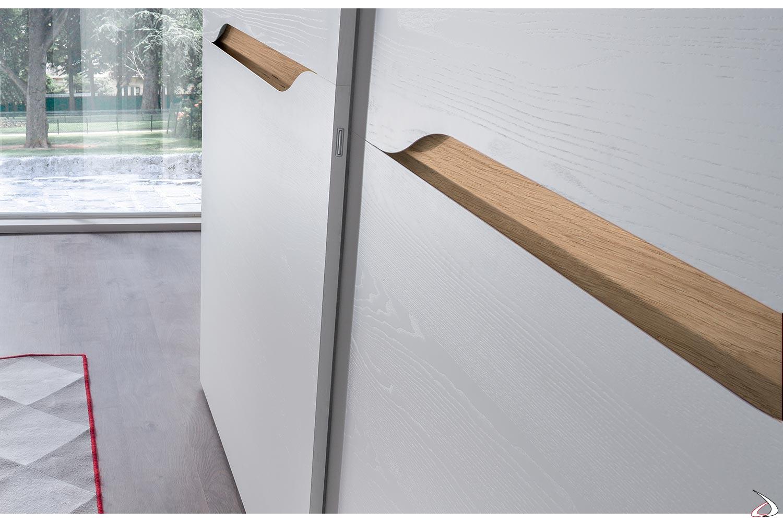 Maniglie Per Armadi Con Ante Scorrevoli.Split Wardrobe With Two Sliding Doors Toparredi Arredo Design