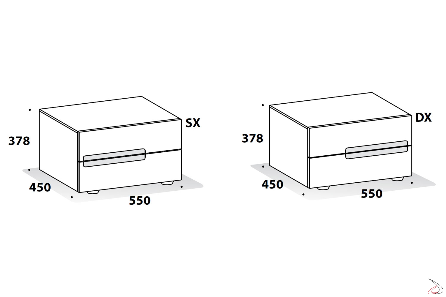 Maered nightstand sizes