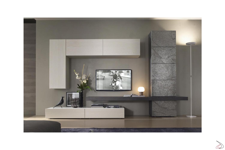 Mobile Soggiorno Design Moderno.Parete Soggiorno In Pietra Tommy Toparredi Arredo Design Online