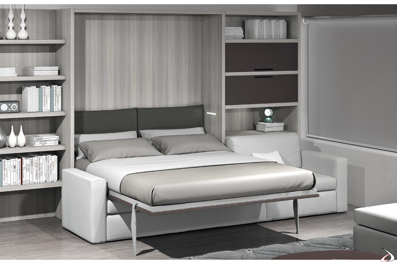 Letto Divano A Scomparsa.Foldaway Bed With Tucano Sofa Toparredi Arredo Design Online