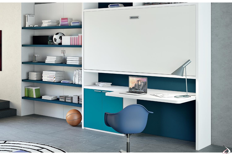 Camerette A Soppalco Con Scrivania.Plutone Convertible Loft Bed Toparredi Arredo Design Online