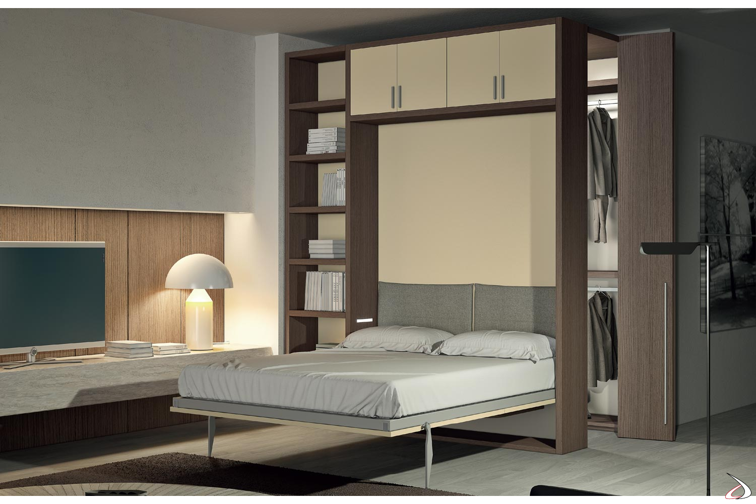 Armadio Letto.Bed With Berol Wardrobe Toparredi Arredo Design Online