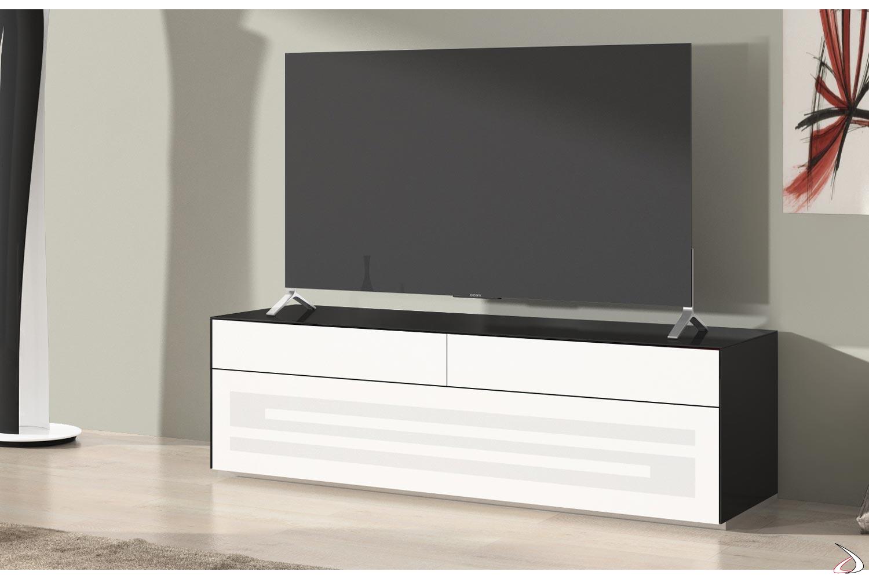 Mobile tv da soggiorno multimediale con anta e cassetti