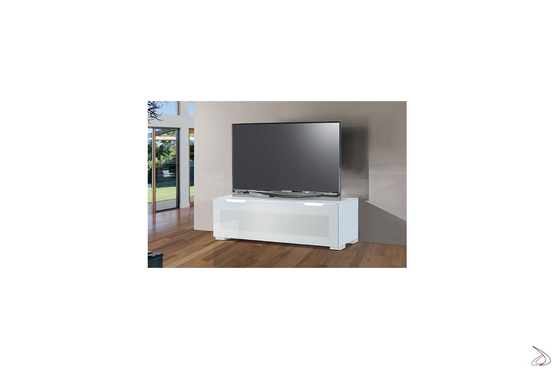 Mobile tv di design con anta in vetro