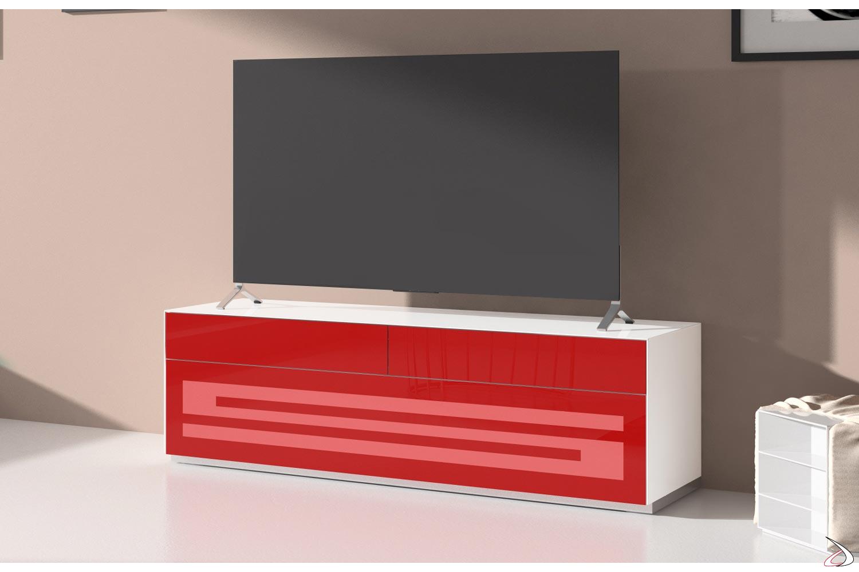 Porta televisore a terra in vetro colorato