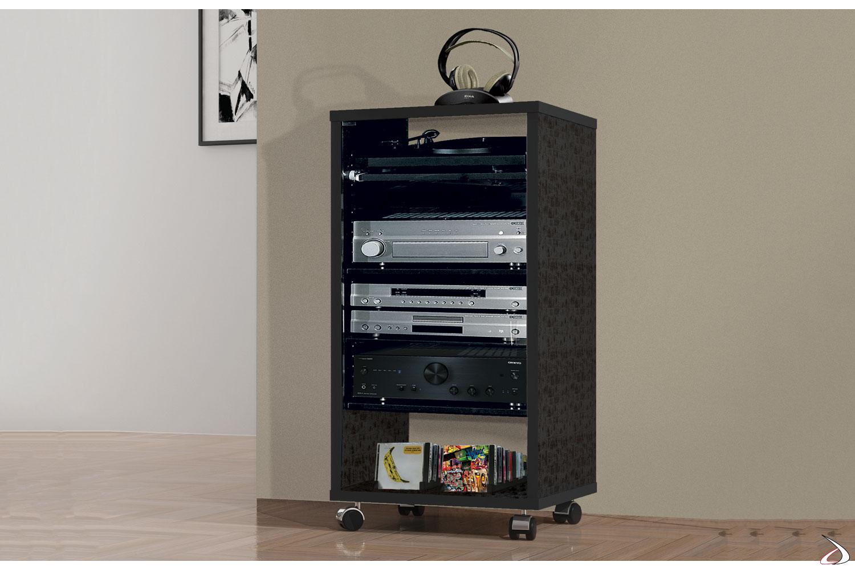 Carrello porta multimedia e porta cd/dvd