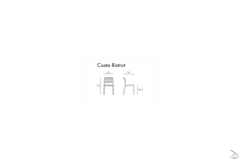Nardi Garden - Misure sedia Costa Bistrot
