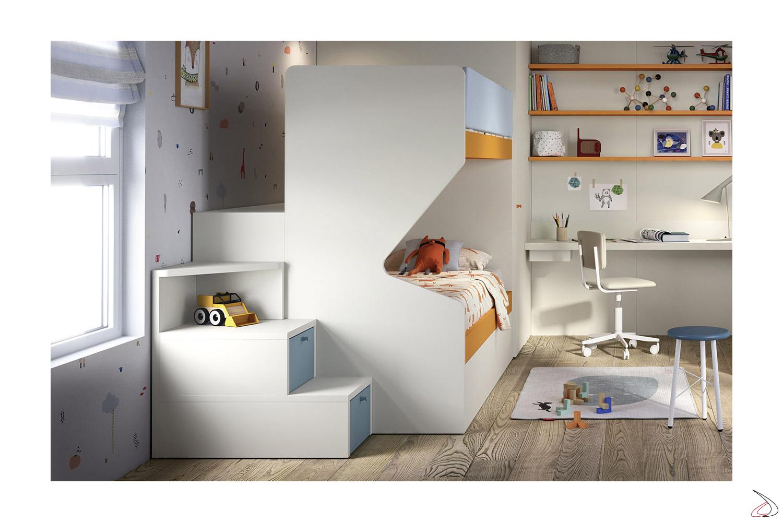 Letto A Castello A Tre Letti.Gino Wooden Bunk Beds For Children Toparredi Arredo Design Online
