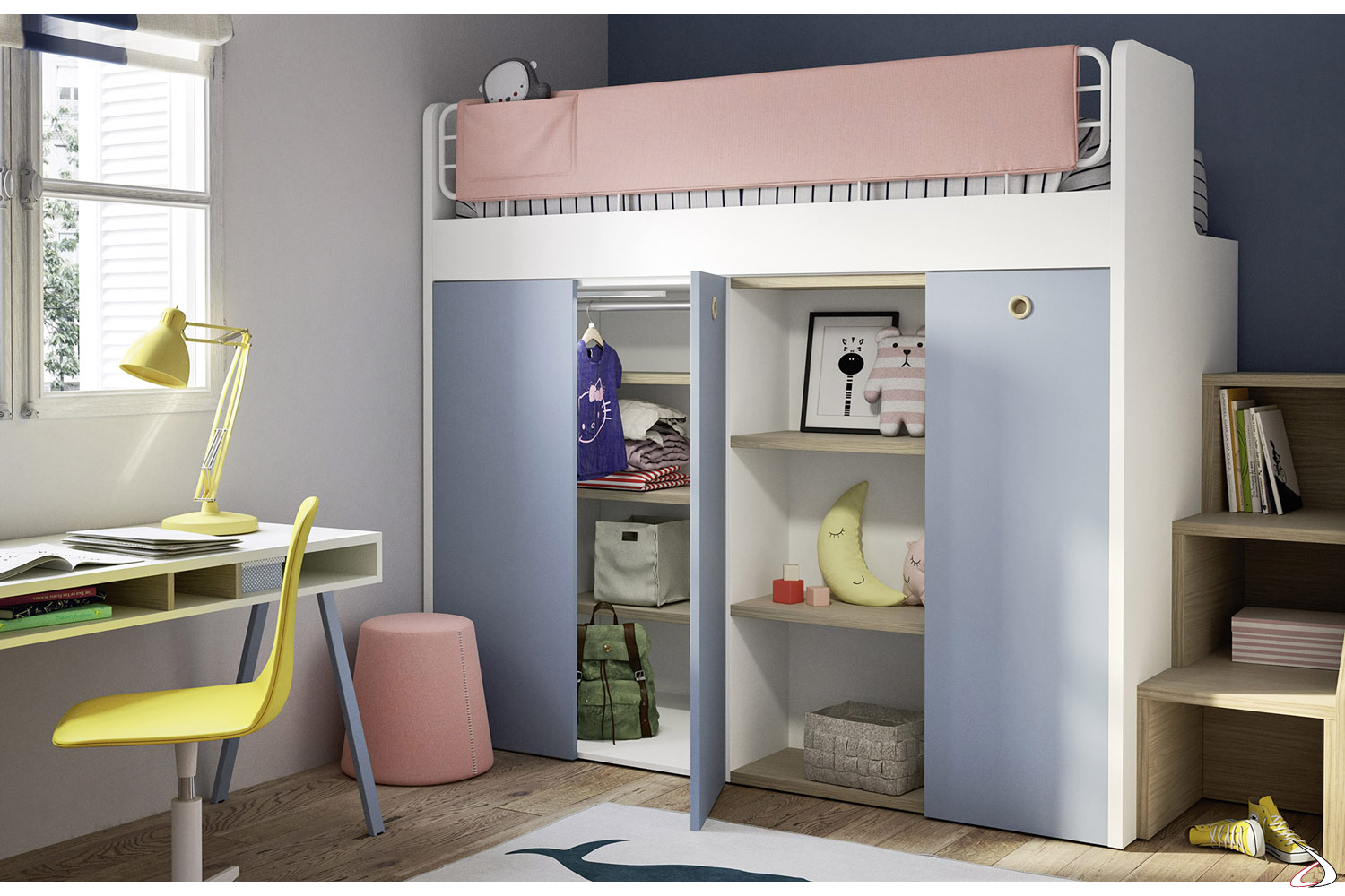 Armadio Con Letto A Castello.Bunk Bed With Ergo Wardrobe Toparredi Arredo Design Online