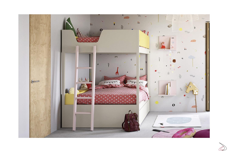 Letti A Castello Per Bambini Design.Letto Castello 1 Piazza E Mezza Camelot Toparredi Arredo