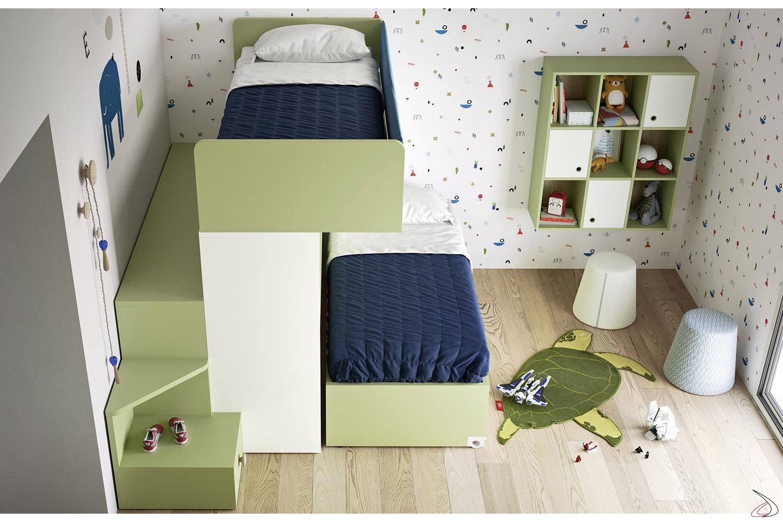 Letti A Castello Battistella.Bunk Bed With Skid Second Bed Toparredi Arredo Design Online