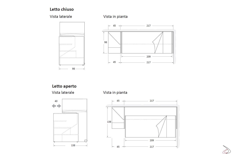 Misure Letto A Castello.Letto A Castello Scorrevole Slot Toparredi Arredo Design Online