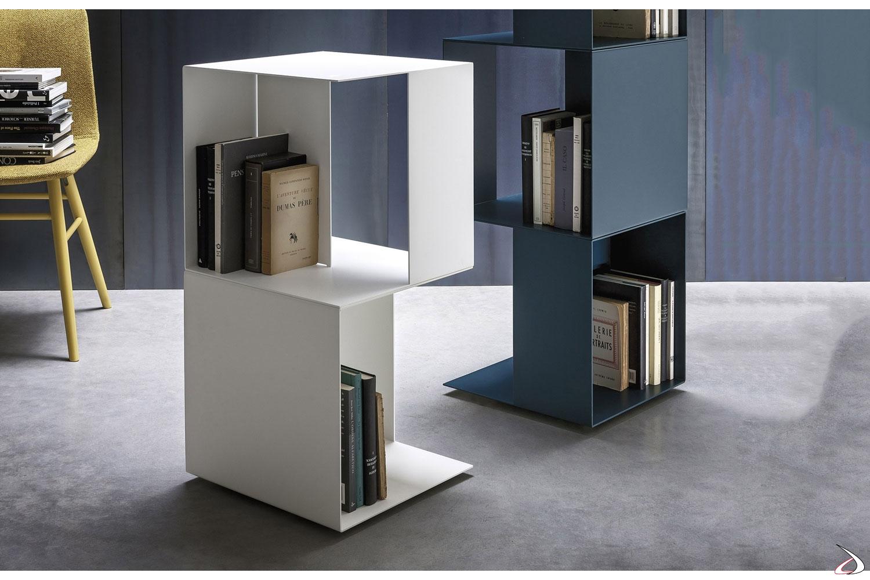 Porta libri e riviste di design girevole da soggiorno