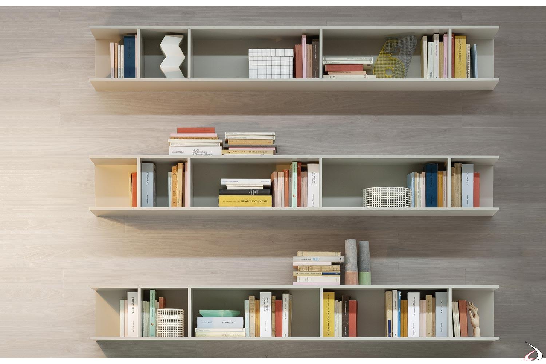 Libreria A Muro Sospesa.Libreria Sospesa A Parete Kepler Toparredi Arredo Design Online