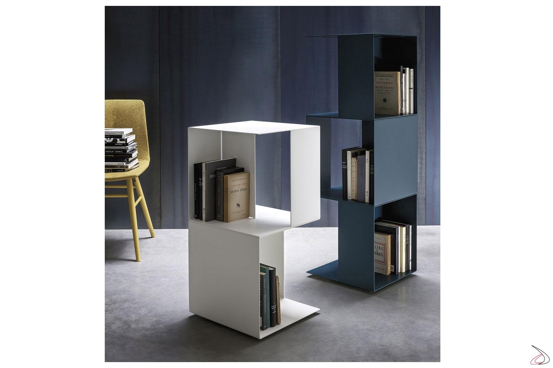 Porta riviste in metallo girevole di design da soggiorno