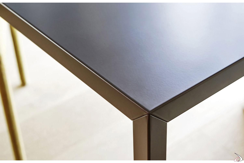 Tavolo da soggiorno design rettangolare in metallo