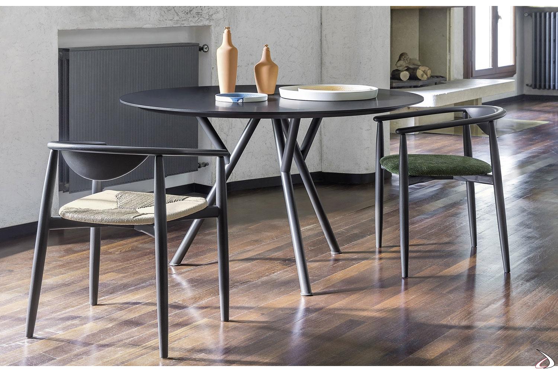 Gambe Per Tavoli Rotondi.Sunny 4 Seater Round Design Table Toparredi Arredo Design Online